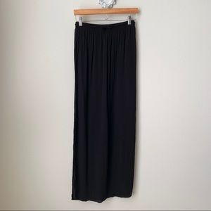 NWT Forever 21 black maxi skirt with slits